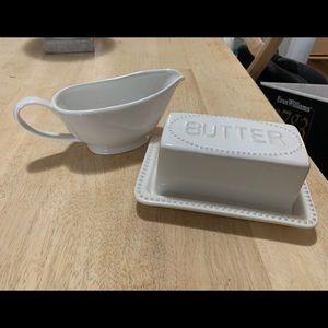Gravy Boat & Butter Tray